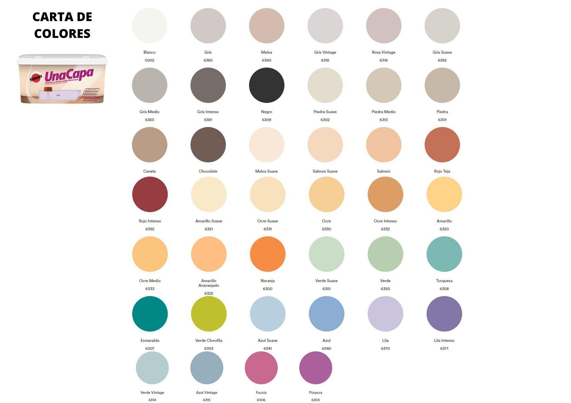 carta de colores Titan una capaedido